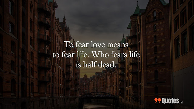 quotes about life and fear