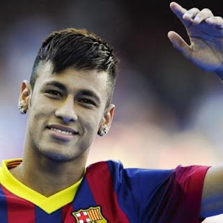 Neymar's Pointed Bangs Haircut