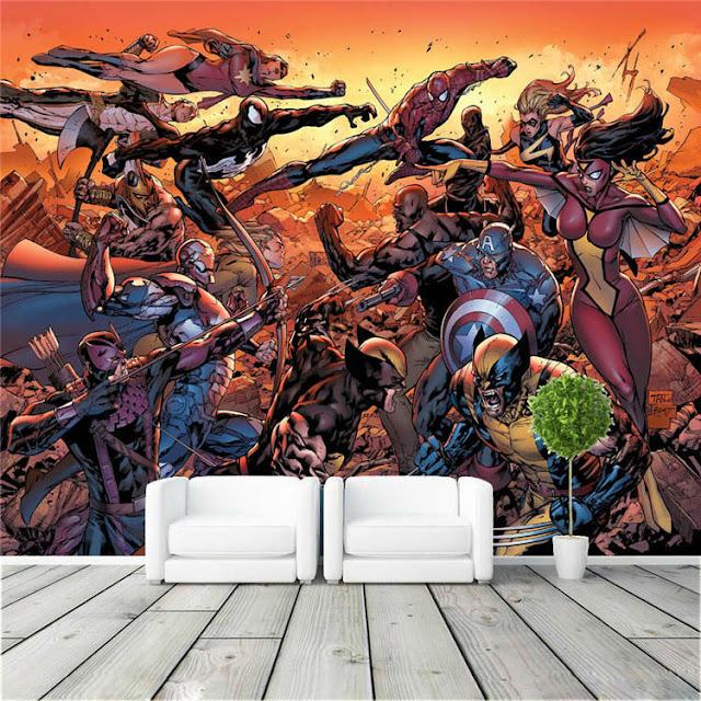 Wallmural.online: Avengers wall mural