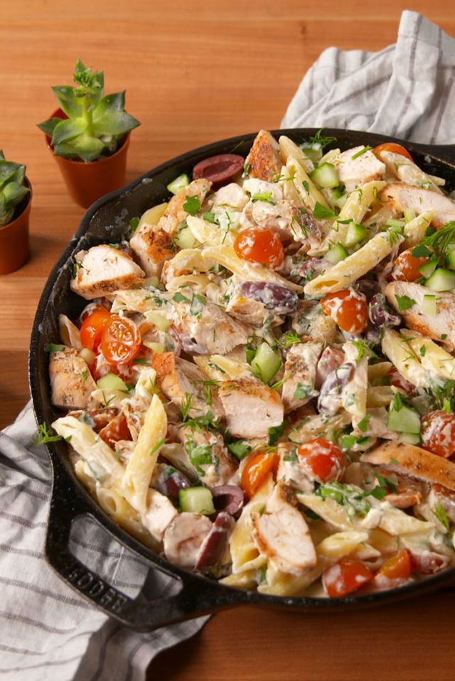 Greek Chicken Pasta -  food-drink-recipes.com