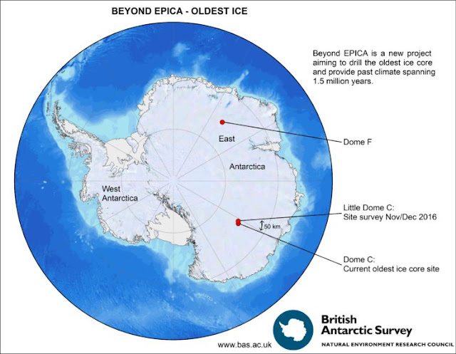 Quest begins for oldest ice on Earth
