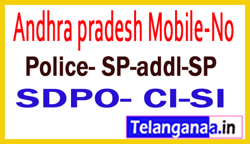Prakasham District Police Officers Mobile Numbers AP State