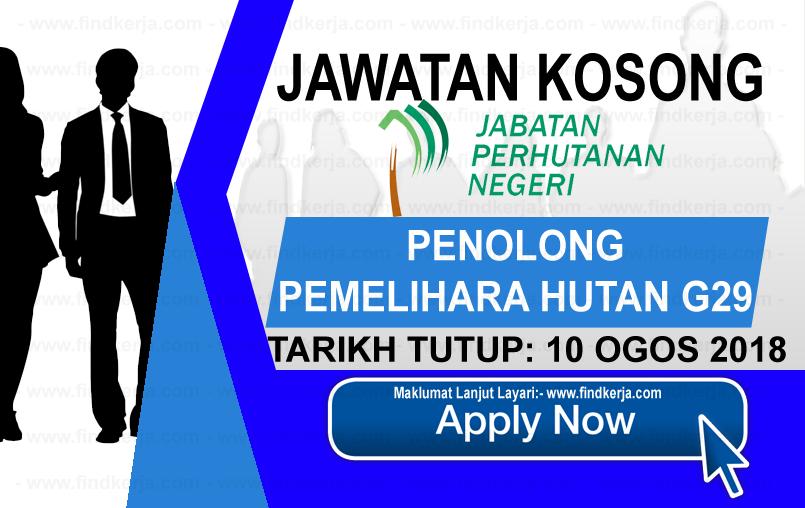 Jawatan Kerja Kosong Jabatan Perhutanan Negeri Perak logo www.ohjob.info www.findkerja.com ogos 2018