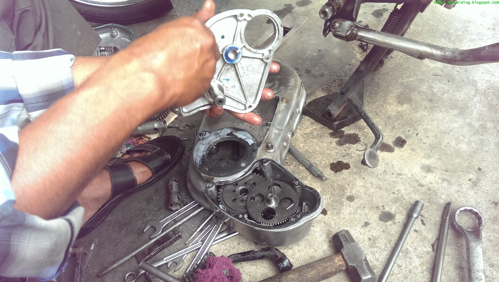 Sid's Motorcycle Diary: Sprag Clutch Removal