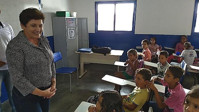 Prefeita Maristela Sena Dias anuncia ampliação da Escola Nossa Senhora da Saúde