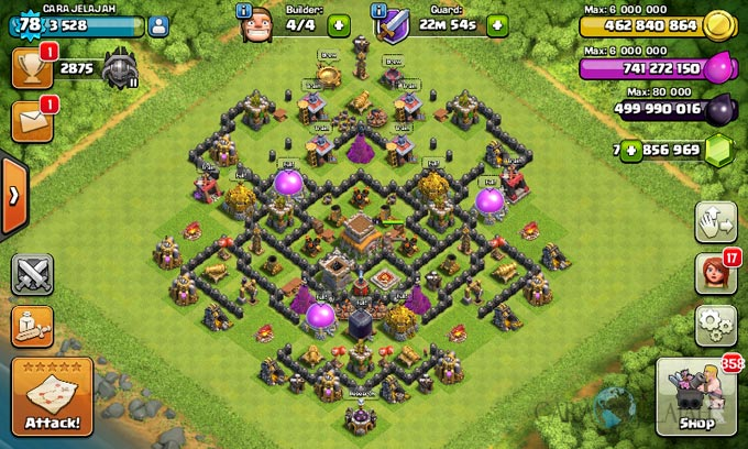Susunan Formasi Base War TH 8 Update Terbaru 24