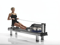 WaterRower M1 HiRise Rowing Machine in action