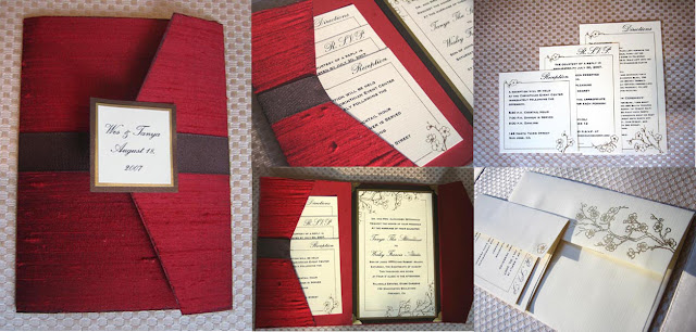 Pocket Folder Wedding Invitation Kits: Wedding Decor: 'Pocket Fold Invitations' Small Package For
