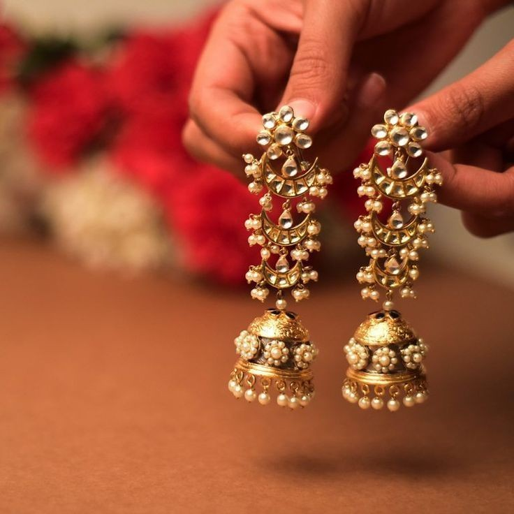 57fc77687 55 Beautiful Gold jhumka earring designs || Tips on Jhumka shopping ...