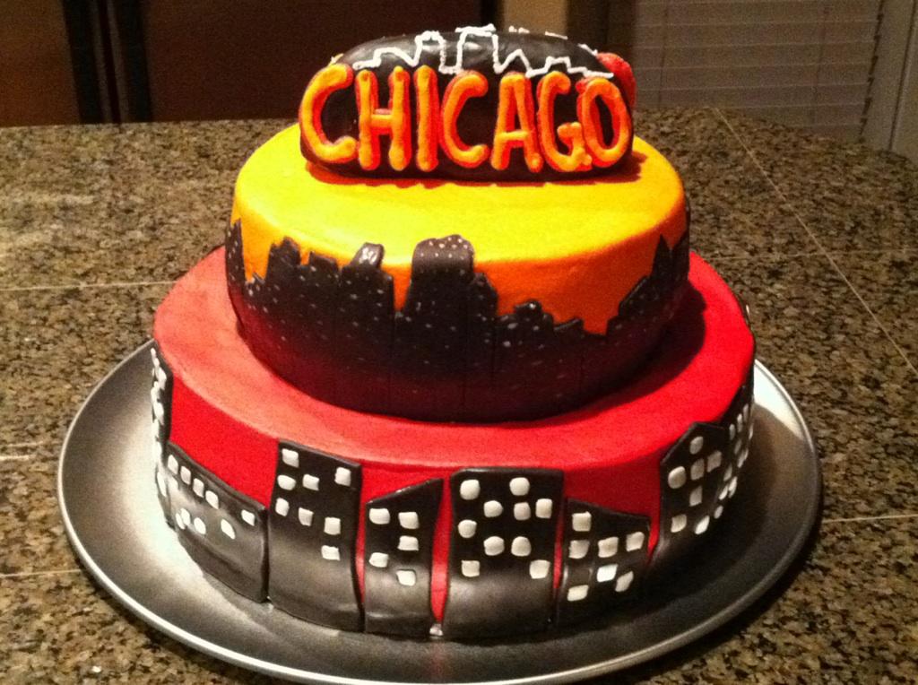 Cat's Cake Creations: Chicago Skyline Cake