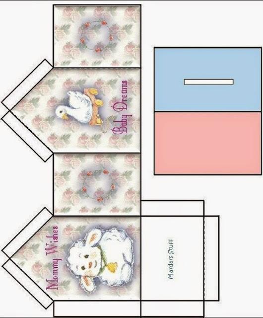Caja Baby Dreams con Forma de Casa para Imprimir Gratis.