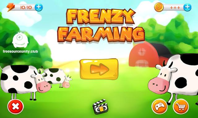 Frenzy Farming - unity kit | Free Code Source Reskin Unity3d