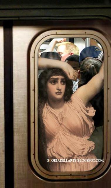 The last watch of hero-F.Leighton-Fotomontaggi satirici di dipinti