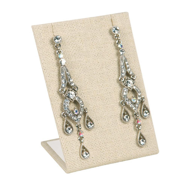 Shop for linen earring jewelry display stand.