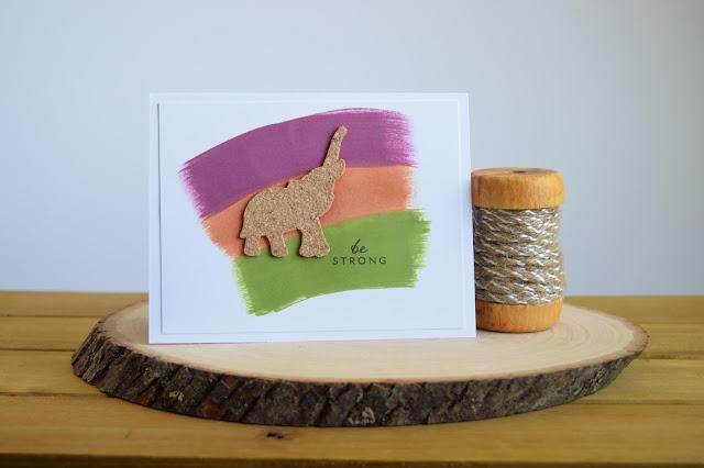 Safari Themed Elephant Card by Jess Crafts using Hero Arts My Monthly Hero June Kit