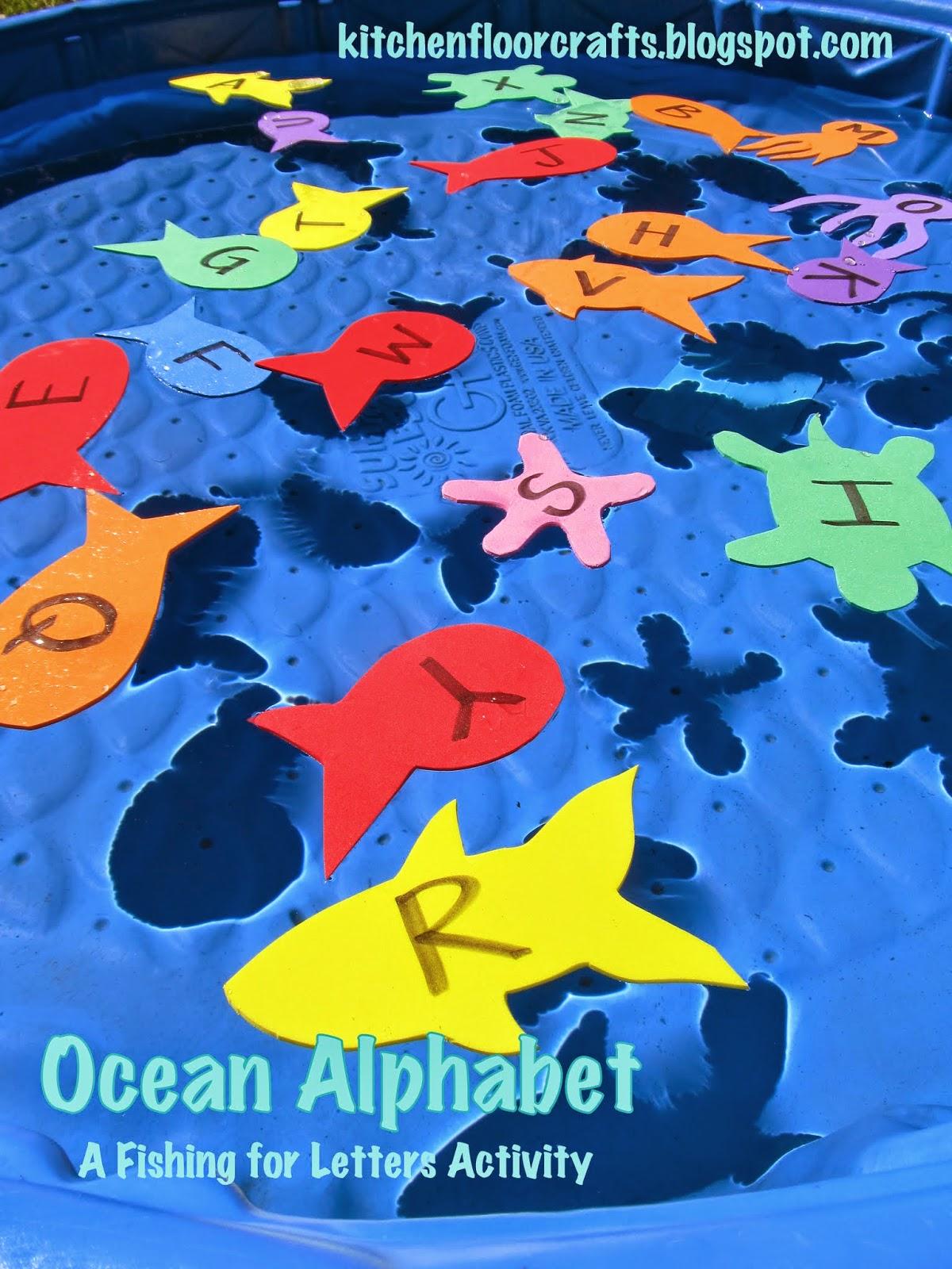 Kitchen Floor Crafts Ocean Alphabet