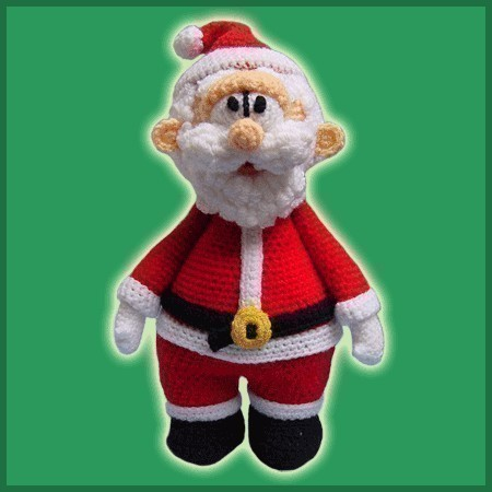 Addobbi amigurumi: cappello di Babbo Natale a uncinetto. | 450x450