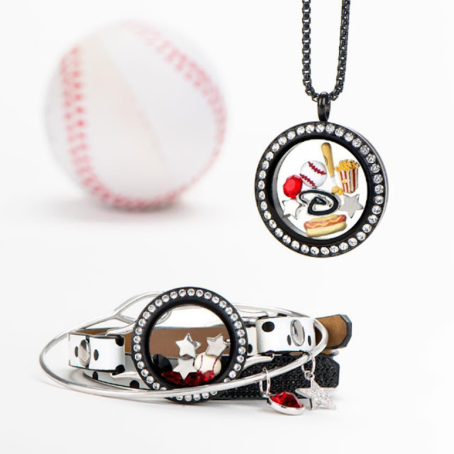 Baseball Theme Origami Owl Living Lockets available at StoriedCharms.com