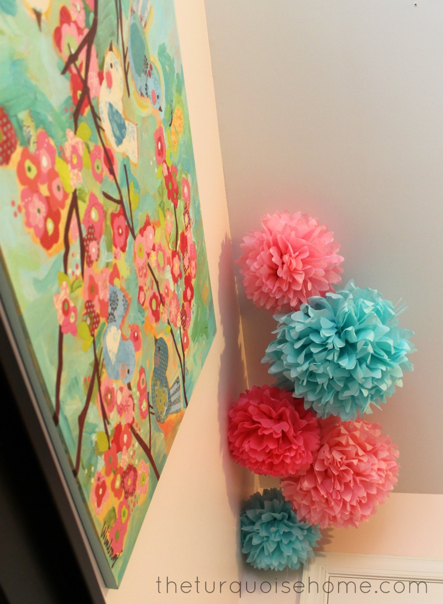 Pink And Turquoise Nursery Room For A