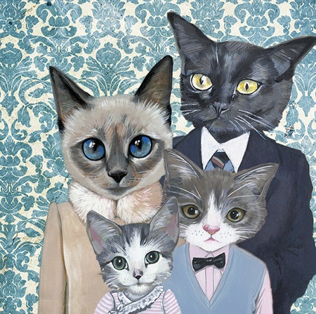 ohsummercandy lovetsy cats in clothes