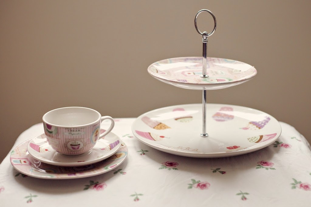 Cupcake afternoon tea range from Dunelm