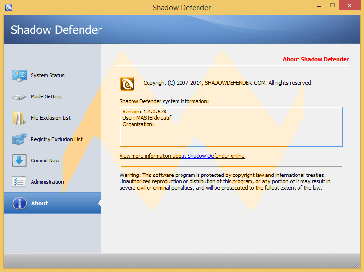 Shadow Defender 1.4.0.578