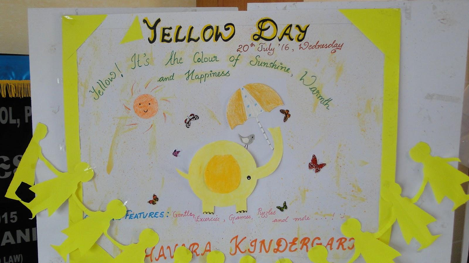 Chavara Public School Pala Yellow Day Celebration