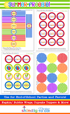 Summer Party Free Printable Kit.