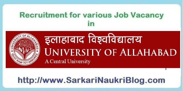 Naukri Vacancy Recruitment Allahabad University