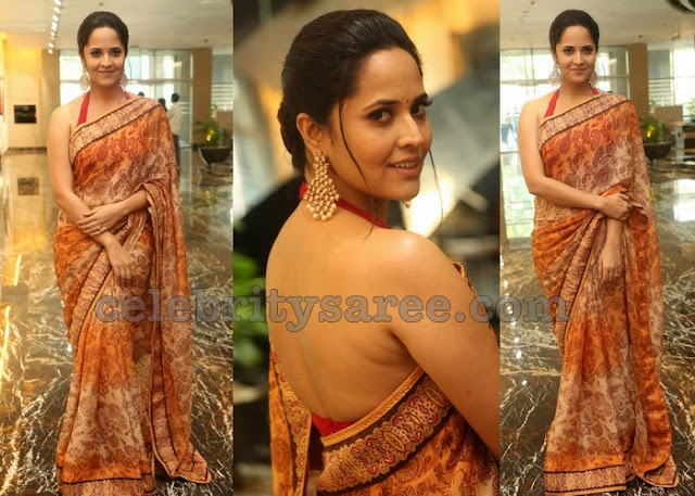 Anasuya Back Less Blouse