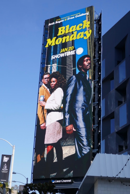 Black Monday series premiere billboard