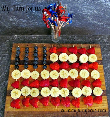 american flag fruit skewers
