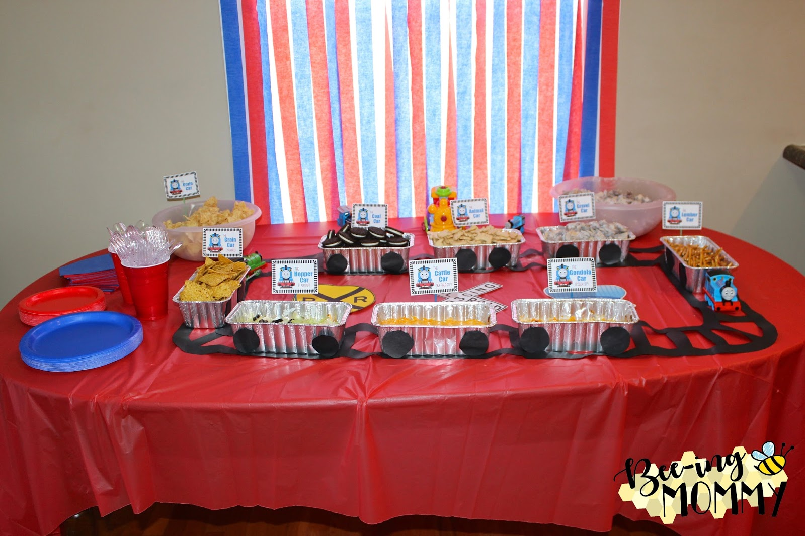Bee Ing Mommy Blog Thomas The Train Birthday Party