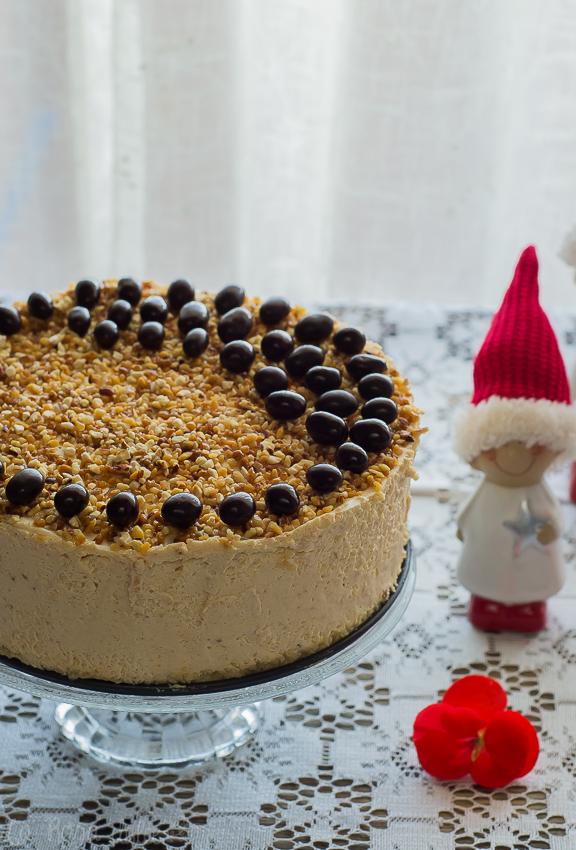 Tarta mousse de turrón | sin gluten y sin lactosa | la Rosa dulce