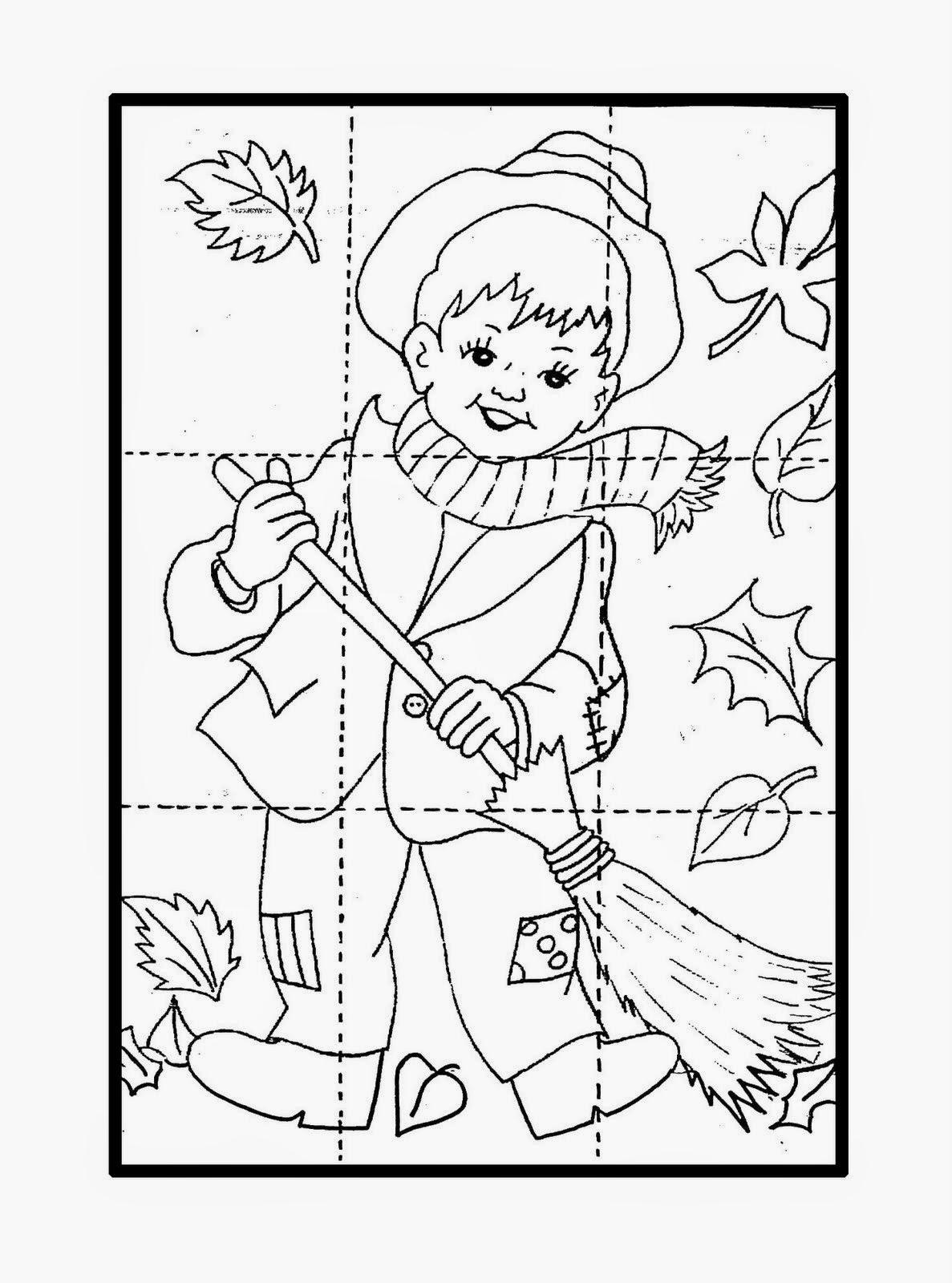 Dibujos Para Colorear Maestra De Infantil Y Primaria Puzzles Sencillos Para Colorear