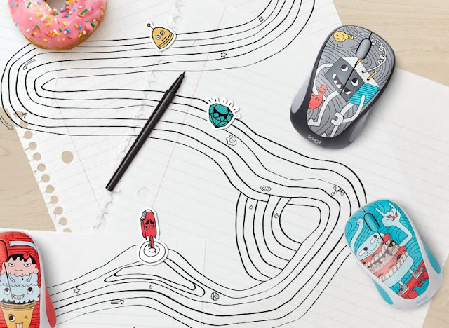 Scroll to Your Happy Place With The @Logitech 2017 #Doodle Collection #WirelessMouse
