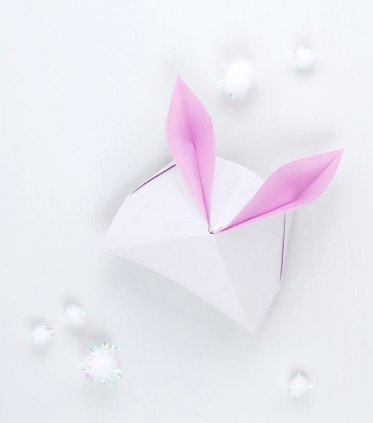 how to make a sweet origami bunny box pink petticoat