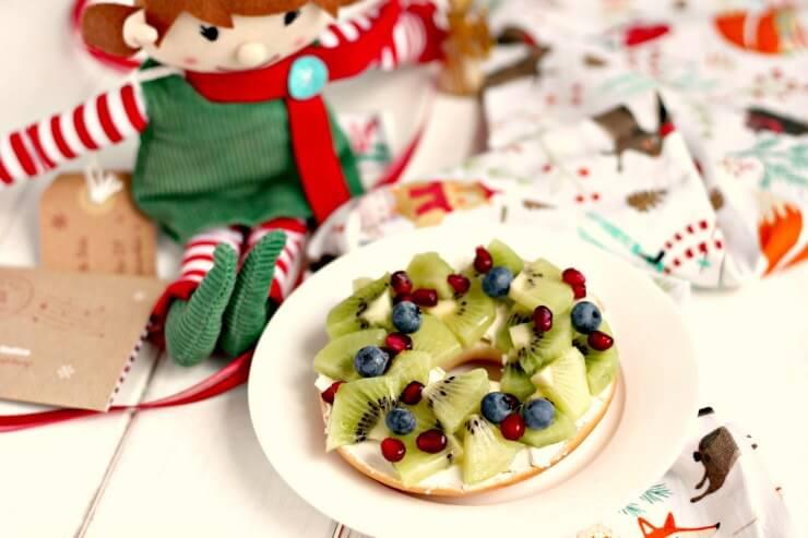 Fruity Christmas Bagel