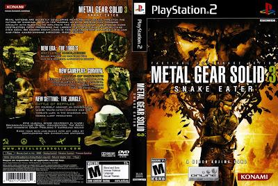 Jogo Metal Gear Solid 3 Snake Eater PS2 DVD Capa