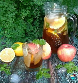 Ide Resep Membuat Apple Iced Tea (Es Teh Apel)