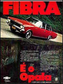 propaganda Opala - 1970, GM anos 70, Chevrolet década de 70, carros anos 70, Oswaldo Hernandez,
