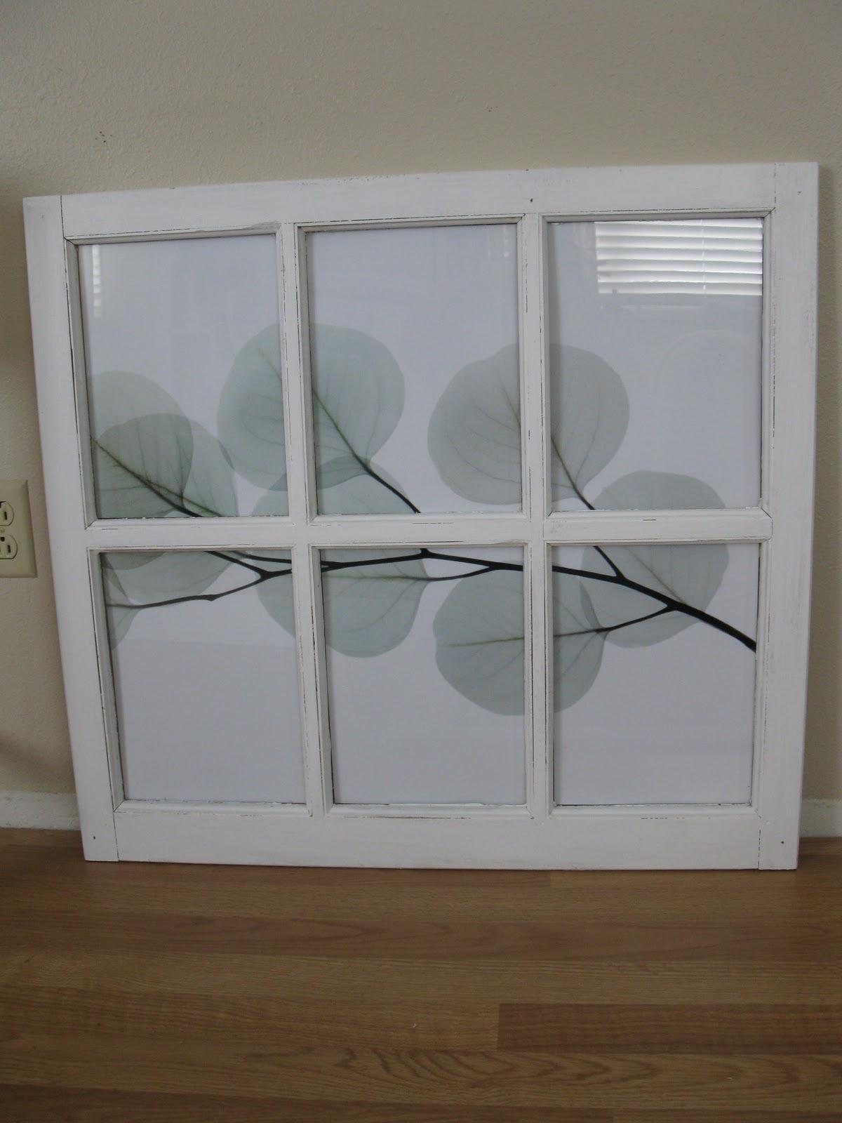 What You Make it...: Window Frame Wall Art