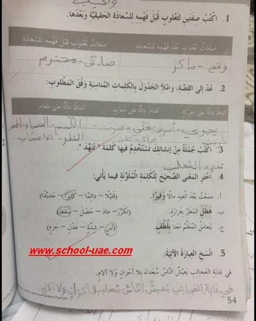 حل الوحدة الثالثة – قصة غابة العجائب - لغة عربية الصف الثالث الفصل الاول – مدرسة الامارات