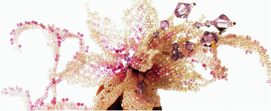 Заколка – брошь из бисера в виде цветка  Beaded Brooch