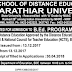APPLICATIONS ARE INVITED FOR ADMISSION TO B.ED. PROGRAMME 2018-2020 THROUGH THE SCHOOL OF DISTANCE EDUCATION | APPLICATIONS ARE ISSUED FROM : 13.12.2017 • SPOTADMISSION FROM 13.12.2017 • LAST DATE FOR RECEIPT OF FILLED IN APPLICATIONS : 30.04.2018