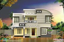 4 Bhk 1818 Square Feet Modern House Plan - Kerala Home