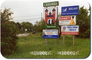 Chelmza road towards town