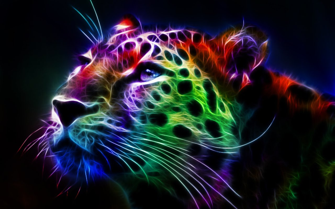 Wallpaper collections fractal leopard - Cool animal wallpaper light ...