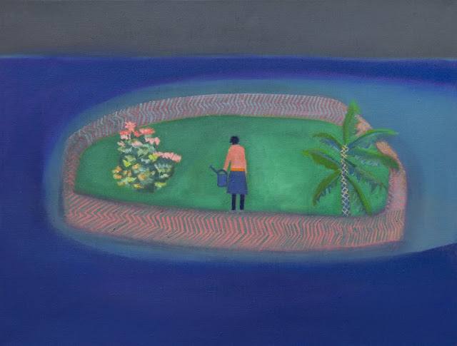 Floating Garden, 2016 by Tom Hammick - Oil on canvas