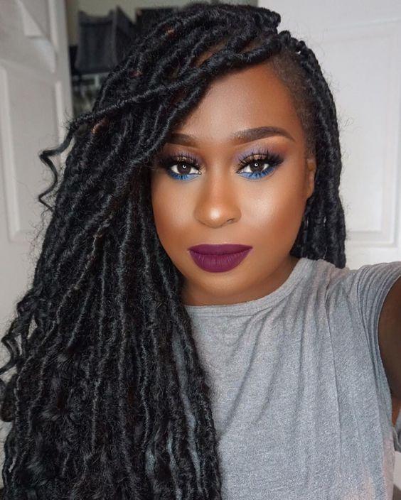 La moda en tu cabello trenzas africanas con pelo suelto - Chicas con trenzas ...